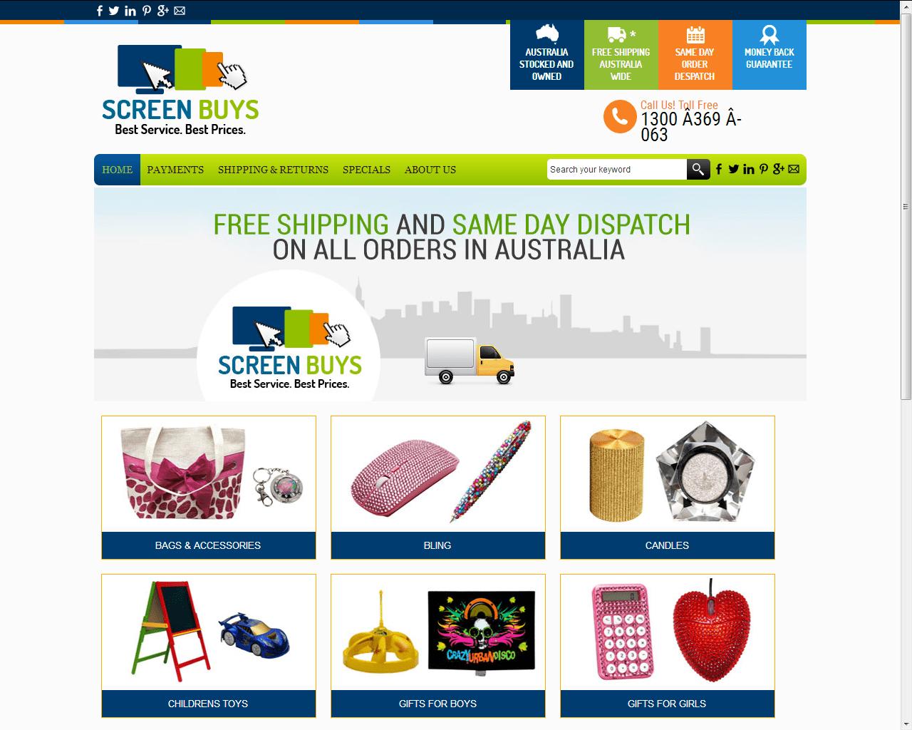 Screenbuy Custom Ebay Store Design Parinshi
